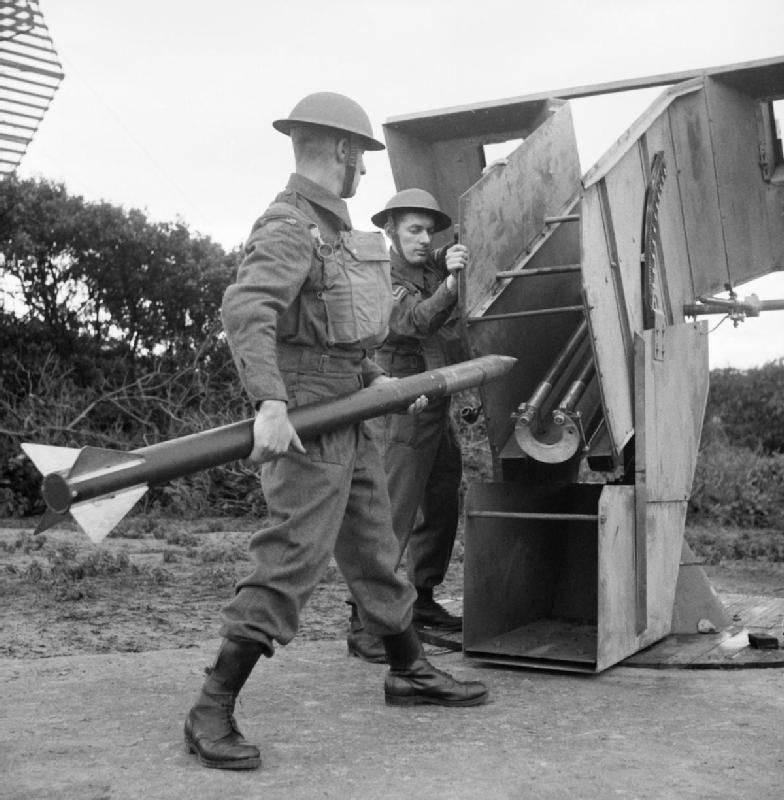 Raketenartillerie aus dem Zweiten Weltkrieg