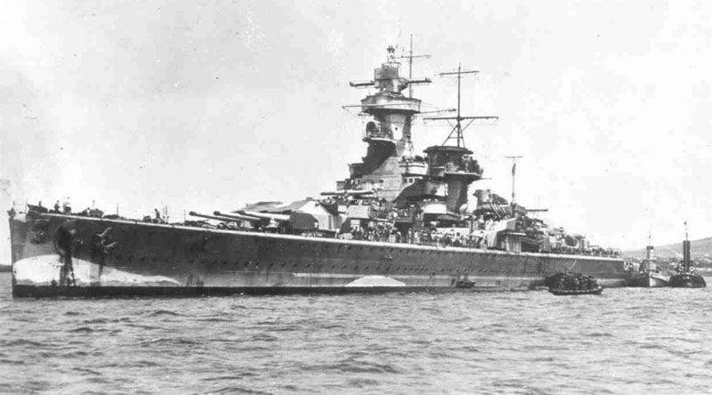 """""""Admiral Count Spee."""" Pirate weekday and the end of the battleship-cut"""