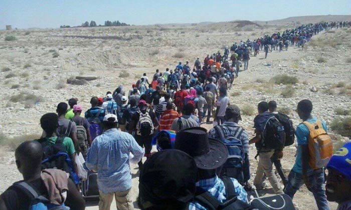 """""""Problema"""" de la tierra prometida. Inmigración africana a israel"""