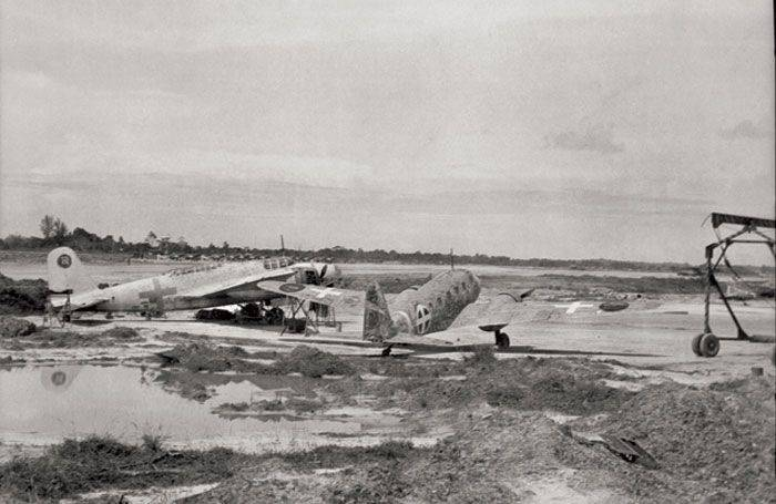 Japanese planes and crews in the service of the Allies