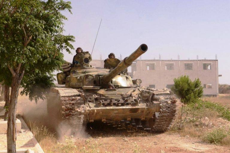 In Syria, almost all modifications of the T-72 and T-90 tanks are currently fighting.