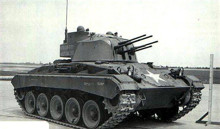 The project of self-propelled anti-aircraft installation T77 (USA)