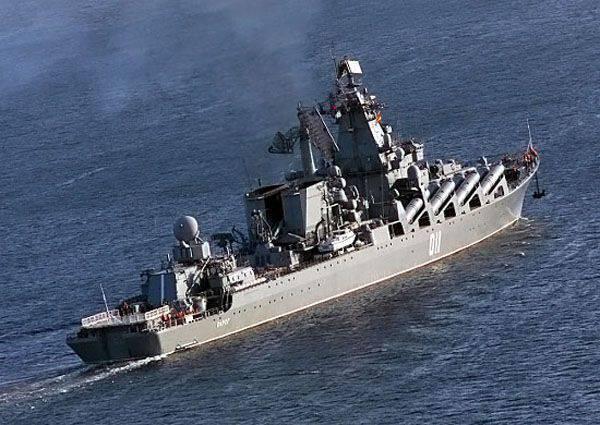 """Cruzador de mísseis """"Varyag"""" é enviado para a implementação da rotação para as costas da Síria"""