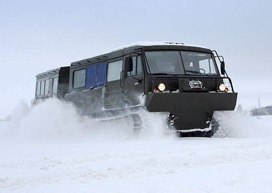 Arctic Brigade of the RF Federation Council received 30 new tracked all-terrain vehicles