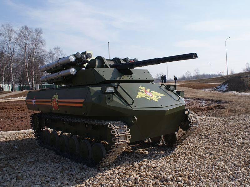 Rosoboronexport अंतरराष्ट्रीय बाजार पर लड़ाकू रोबोट प्रदर्शित करेगा