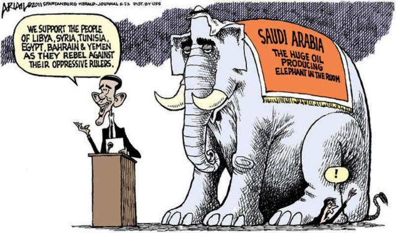 Terrorismo e alleanza degli Stati Uniti con i paesi del Golfo - non abbiamo nemmeno notato un elefante (CounterPunch, USA)