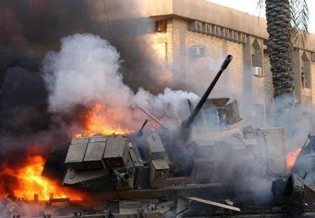 Outra vergonha americana: o M-2 Bradley BMP na Arábia Saudita queima como fósforos em batalhas