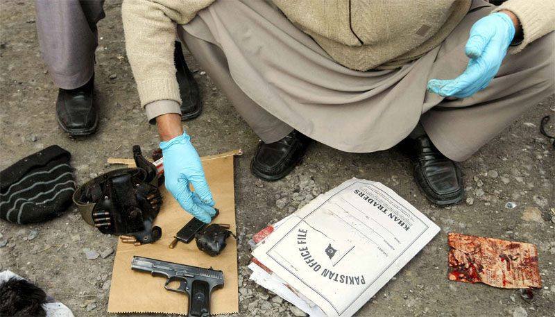 Afghan security officials liquidate one of the Taliban field commanders