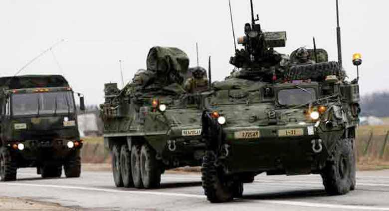 Following the rotational forces, military equipment arrived in Lithuania