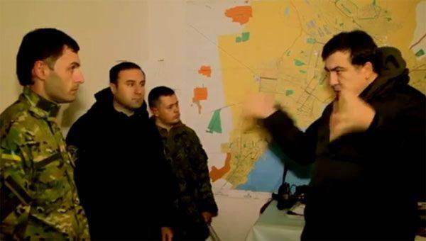 Saakaschwili hat im sozialen Netzwerk Filmmaterial von den Positionen der ukrainischen Truppen im Donbass gepostet
