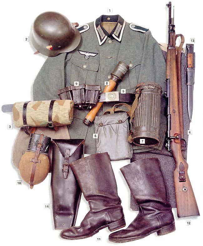 Uniforme militar de soldados e oficiais da Grande Guerra Patriótica