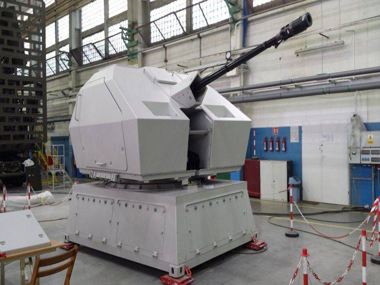 The first sample of the Tryton 35-mm gun mounts was manufactured in Poland