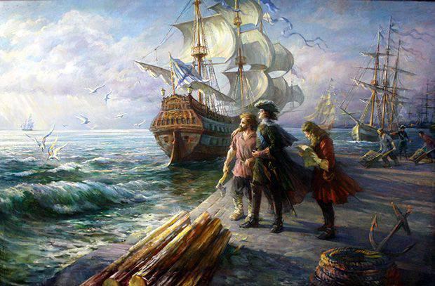 Wie die erste Marinecharta in Russland erschien
