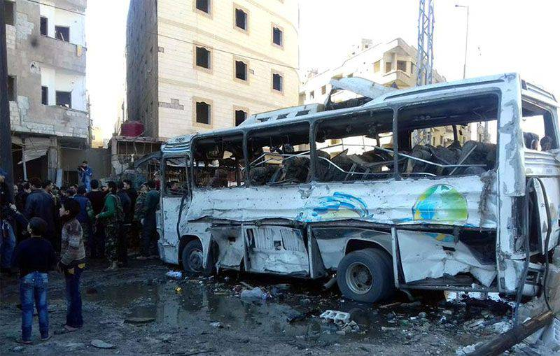 Triple terrorist attack with a large number of victims in the south of Damascus