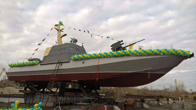 Ukraine has begun testing the first armored boat