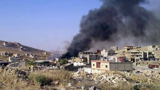 Clashes between ISIS and Jebhat al-Nusra militants in the Syrian-Lebanese border