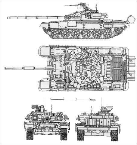 T-14与其他MBT的大小比较