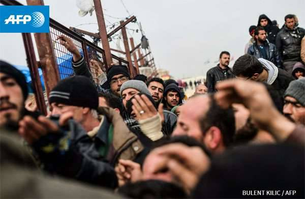 """Bearded """"refugees"""" from Syria and Iraq are storming the Turkish border. UN requires Erdogan to let everyone in ..."""