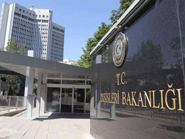 Embajador de los Estados Unidos llamado en la alfombra en el Ministerio de Relaciones Exteriores de Turquía