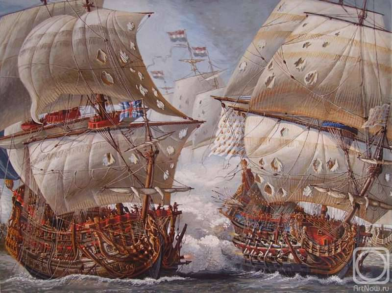Anglo-French naval rivalry. Battle at Barfleur 29 May - 4 June 1692