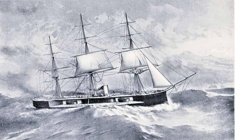 Projetos de navios exóticos na era do vapor