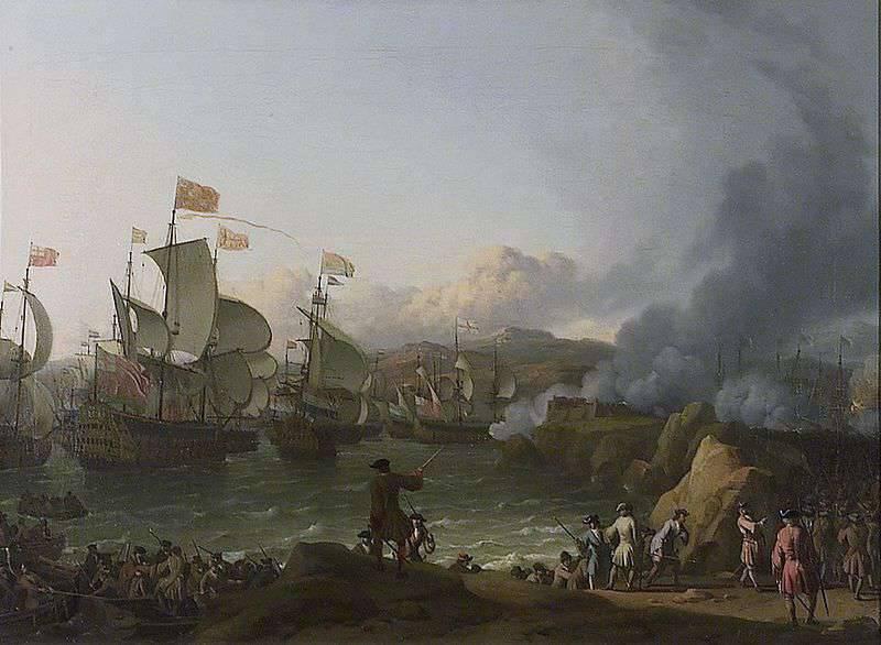 영국 - 프랑스 해군의 경쟁. 비고만의 갤리온 보물 사냥