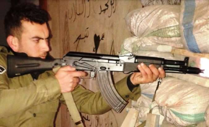 Syrian fighters have tested the new version of AK