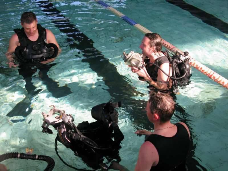"""Equipamento de mergulho especial """"Amphora"""""""