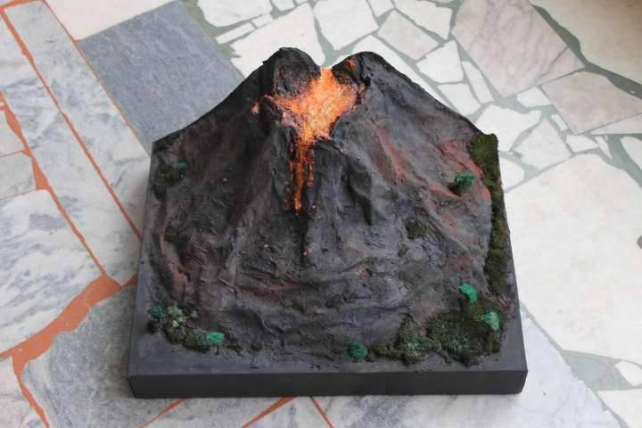 Макет вулкана из соленого теста своими руками 26