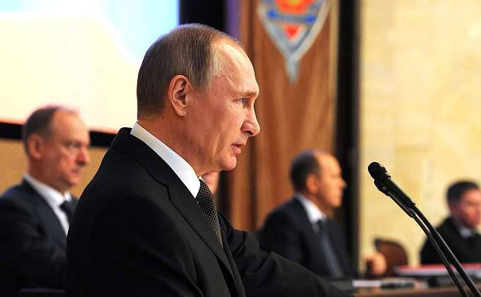 Vladimir Putin spoke at a board meeting of the FSB of the Russian Federation