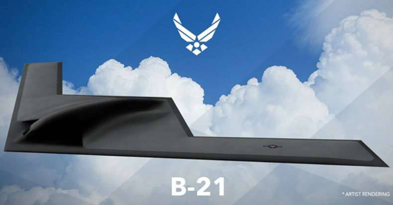 US Air Force presented a visual project of a long-range bomber B-21