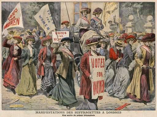 Les femmes suffragistes qui veulent l'égalité!