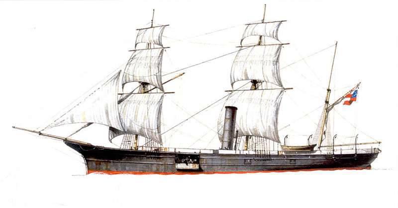 """Nave pequeña para grandes diseños. Campaña """"Sumter"""", el primer asaltante de la Confederación."""