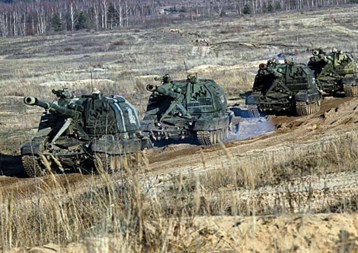 2 대 이상의 포병이 남부 군대 지역에 배치되었습니다.