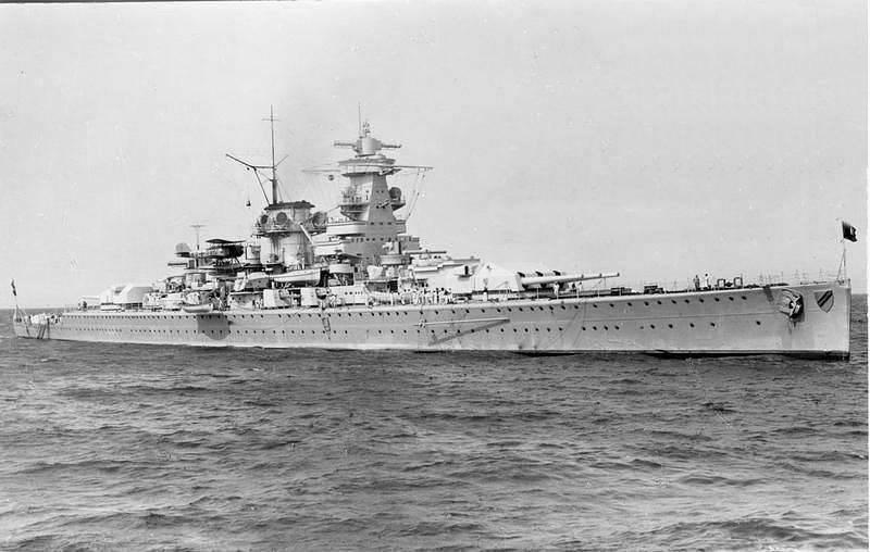 Ağır kruvazör Amiral Scheer (Amiral Scheer): son şanslı akıncı