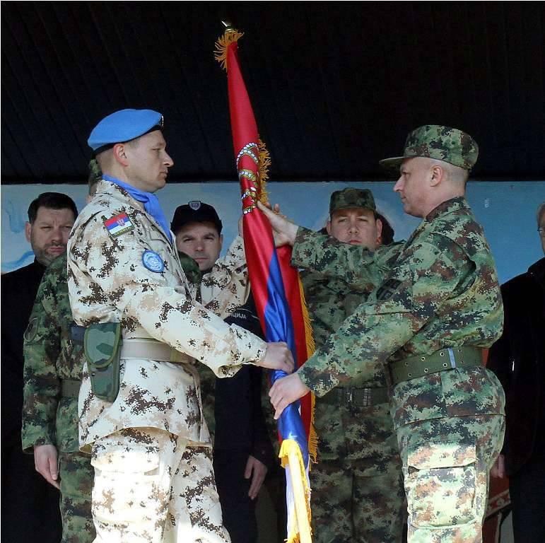 セルビアはキプロスに平和維持軍の派遣団を派遣しました