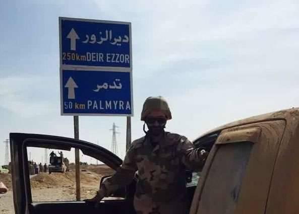 メディア:イランイスラム革命警備隊の代表がパルミラに接近