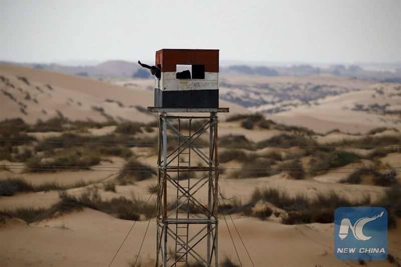 मिस्र की वायु सेना सिनाई प्रायद्वीप के उत्तर में 20 आतंकवादियों का सफाया करती है