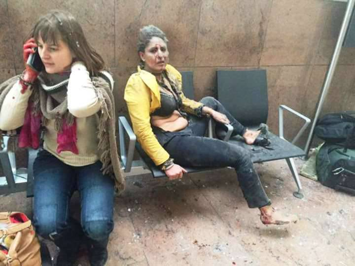 Two explosions at the Brussels airport killed at least 10 people