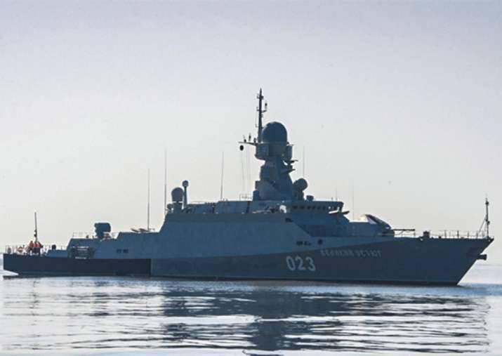 No Mar Cáspio, o ensino conjunto dos navios com o serviço de radar over-the-horizon foi concluído.