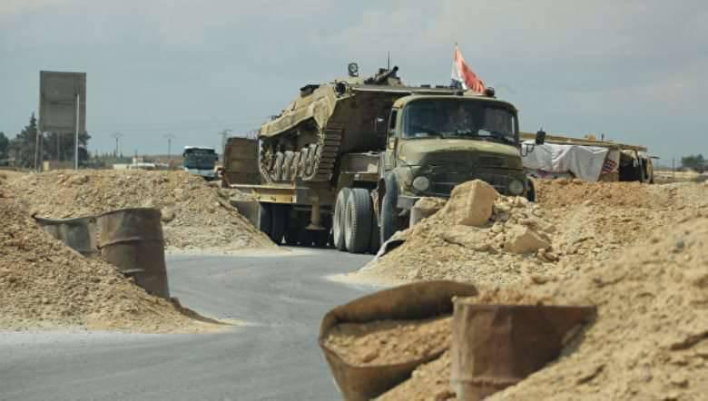 Las fuerzas gubernamentales en los suburbios del este de Palmyra eliminaron a los militantes de 70