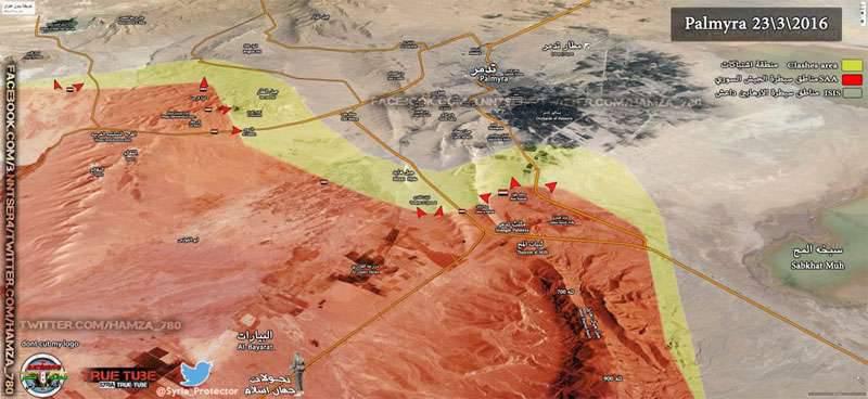 Sobre las batallas de Palmyra y el bombardeo de posiciones de ISIS en la región de Raqqah y Deir-ez-Zor.