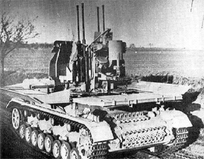 ZSU 3.7 cm Fahrgestell Panzerkampfwagen IV (sf) / Möbelwagen (독일)의 FlaK