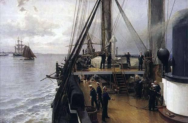 O primeiro navio militar da Rússia