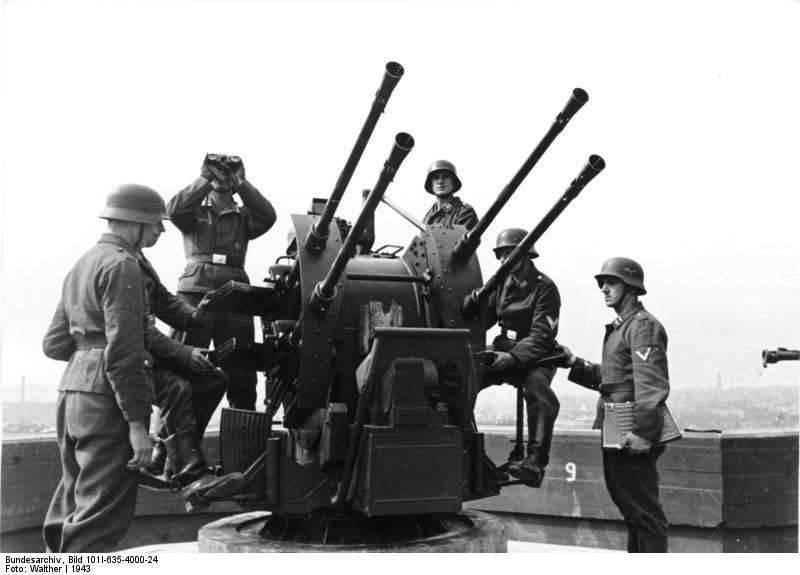 Installazione semovente antiaerea Flakpanzer IV Wirbelwind (Germania)