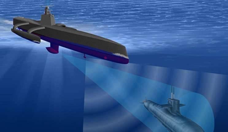 """Marinha dos EUA experimentando """"caçador no submarino"""""""