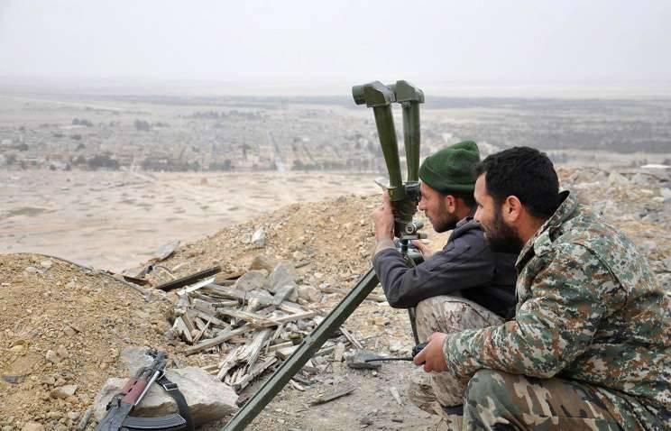 Les forces gouvernementales syriennes ont occupé les hauteurs de la ville d'El Qaryatayn