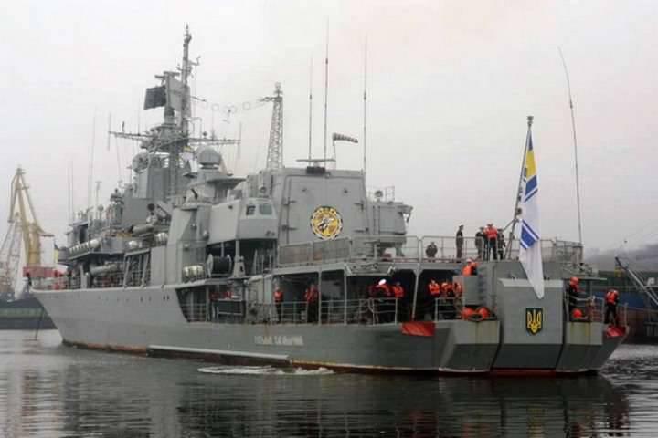 新しい司令官を率いるウクライナの艦隊