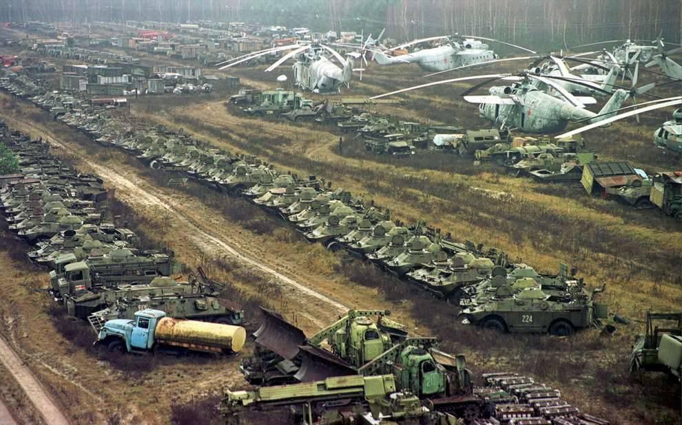 Чернобыль заливали бетоном силос из бетона