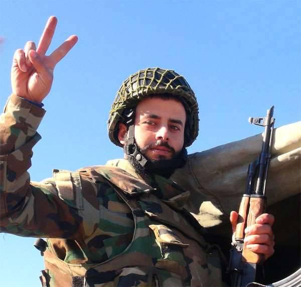 O exército sírio libertado dos militantes do ISIS El Qaryatayn